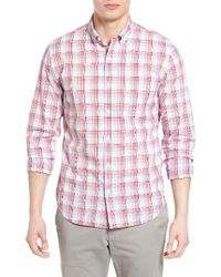 Bonobos | Pink Summerweight Slim Fit Plaid Sport Shirt for Men | Lyst
