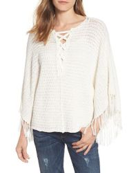 Velvet By Graham & Spencer White Fringe Trim Crochet Top