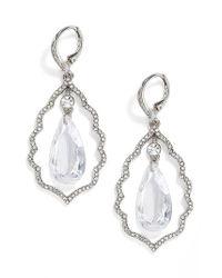 Jenny Packham | Metallic Orbital Crystal Drop Earrings | Lyst