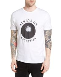 Altru - White Always On Vacation Graphic T-shirt for Men - Lyst