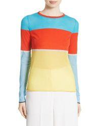 Diane von Furstenberg | Yellow Colorblock Sweater | Lyst