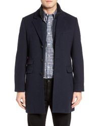 Cardinal Of Canada | Blue Leclair Wool & Cashmere Topcoat for Men | Lyst