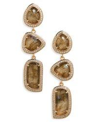 Melanie Auld | Metallic Linear Earrings | Lyst
