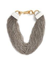 Alexander Wang | Metallic Multistrand Necklace | Lyst