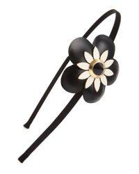 Cara   Black Flower Headband   Lyst