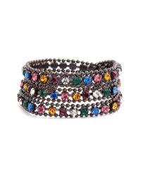 Loren Hope - Multicolor Glenn Crystal Wrap Bracelet - Lyst