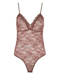 TOPSHOP | Multicolor Sheer Lace Bodysuit | Lyst