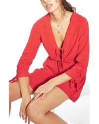 TOPSHOP | Red Spot Tea Minidress | Lyst