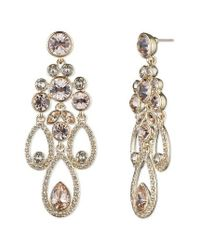 Givenchy | Metallic Drama Chandelier Crystal Earrings | Lyst