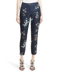 Ted Baker - Blue Elopia Crop Trousers - Lyst