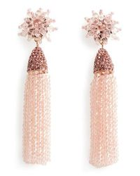 BaubleBar - Pink Chrysanthemum Drop Earrings - Lyst