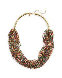 Natasha Couture - Multicolor Natasha Beaded Multistrand Necklace - Lyst