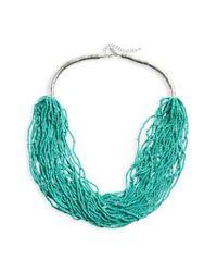 Natasha Couture | Green Natasha Beaded Multistrand Necklace | Lyst