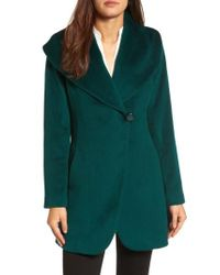 Trina Turk | Green Jemma Shawl Collar Coat | Lyst