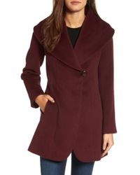 Trina Turk | Purple Jemma Shawl Collar Coat | Lyst