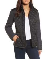 Gallery - Black Multi Media Quilted Jacket - Lyst