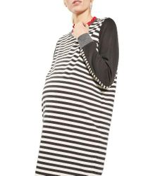 TOPSHOP | Gray Stripe Maternity Sweatshirt Dress | Lyst