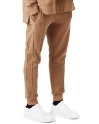 TOPMAN   Brown Aaa Collection Paneled Slim Fit Jogger Pants for Men   Lyst