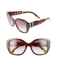 fe46fcce4c28 Lyst - Burberry 57mm Gradient Butterfly Sunglasses - Bordeaux in Brown