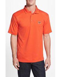 Cutter & Buck - Orange 'cincinnati Bengals - Genre' Drytec Moisture Wicking Polo for Men - Lyst