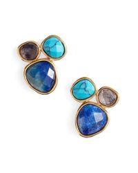 Gorjana | Blue Lola Semiprecious Stone Stud Earrings | Lyst
