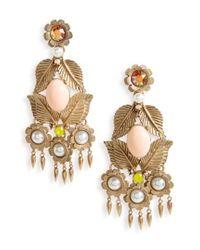 Loren Hope | Metallic Ivy Crystal Chandelier Earrings | Lyst
