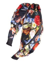 Cara - Blue Floral Knot Head Wrap - Lyst