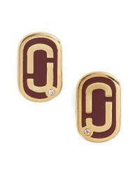 Marc Jacobs - Metallic Icon Enamel Stud Earrings - Lyst