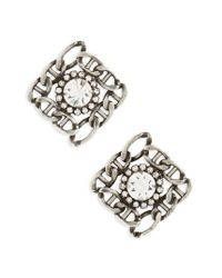 DANNIJO | Metallic Kassia Stud Earrings | Lyst