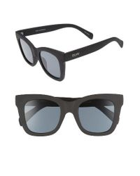 Quay | Black After Hours 50mm Square Sunglasses | Lyst