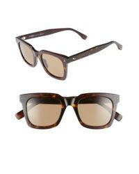 Fendi | Brown 49mm Sunglasses - Dark Havana for Men | Lyst