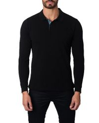 Jared Lang - Black Long Sleeve Polo for Men - Lyst