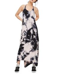 TOPSHOP | Blue Tie Dye Halter Maxi Dress | Lyst
