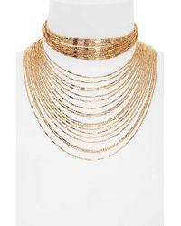 Panacea | Metallic Multistrand Statement Necklace | Lyst