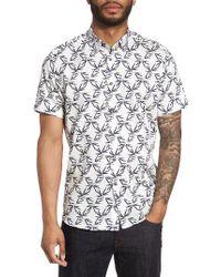 Ted Baker | White Lonpalm Print Sport Shirt for Men | Lyst
