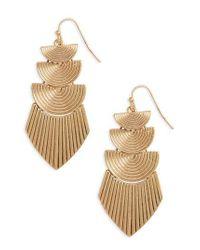 Panacea - Metallic Drop Earrings - Lyst