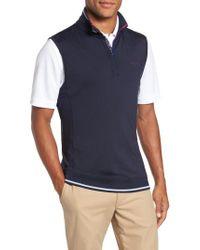 Ted Baker | Blue Lag Quarter Zip Vest for Men | Lyst