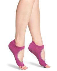 ToeSox | Pink Bellarine Half Toe Gripper Socks | Lyst