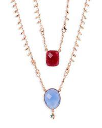 Gas Bijoux - Multicolor Scapulaire Convertible Semiprecious Stone Necklace - Lyst