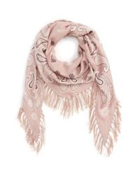 Madewell | Pink Print Diamond Scarf | Lyst