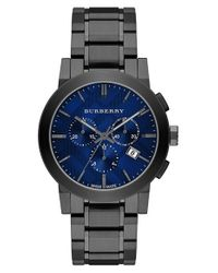 Burberry | Gray Large Chronograph Bracelet Watch for Men | Lyst