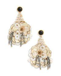 Lizzie Fortunato - Metallic Cascade Sequin Drop Earrings - Lyst