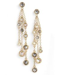 St. John - Metallic Swarovski Crystal Drop Earrings - Lyst