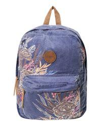 O'neill Sportswear Blue Blazin Floral Print Backpack