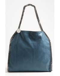 Stella McCartney - Blue 'small Falabella - Shaggy Deer' Faux Leather Tote - Lyst