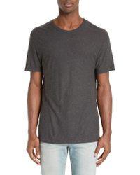 T By Alexander Wang | Gray 'pilly' Crewneck T-shirt for Men | Lyst