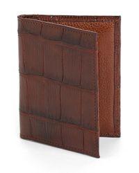 Martin Dingman | Brown 'jameson' Matte Finish Genuine Alligator Leather Wallet for Men | Lyst