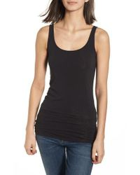 Splendid Black Scoop Neck Stretch Tank