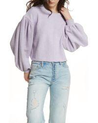 Free People - Purple Sleeves Like These Sweater - Lyst