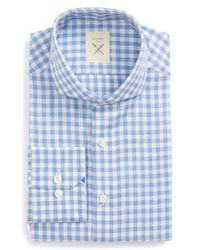 Strong Suit - Blue Extra Trim Fit Check Dress Shirt for Men - Lyst